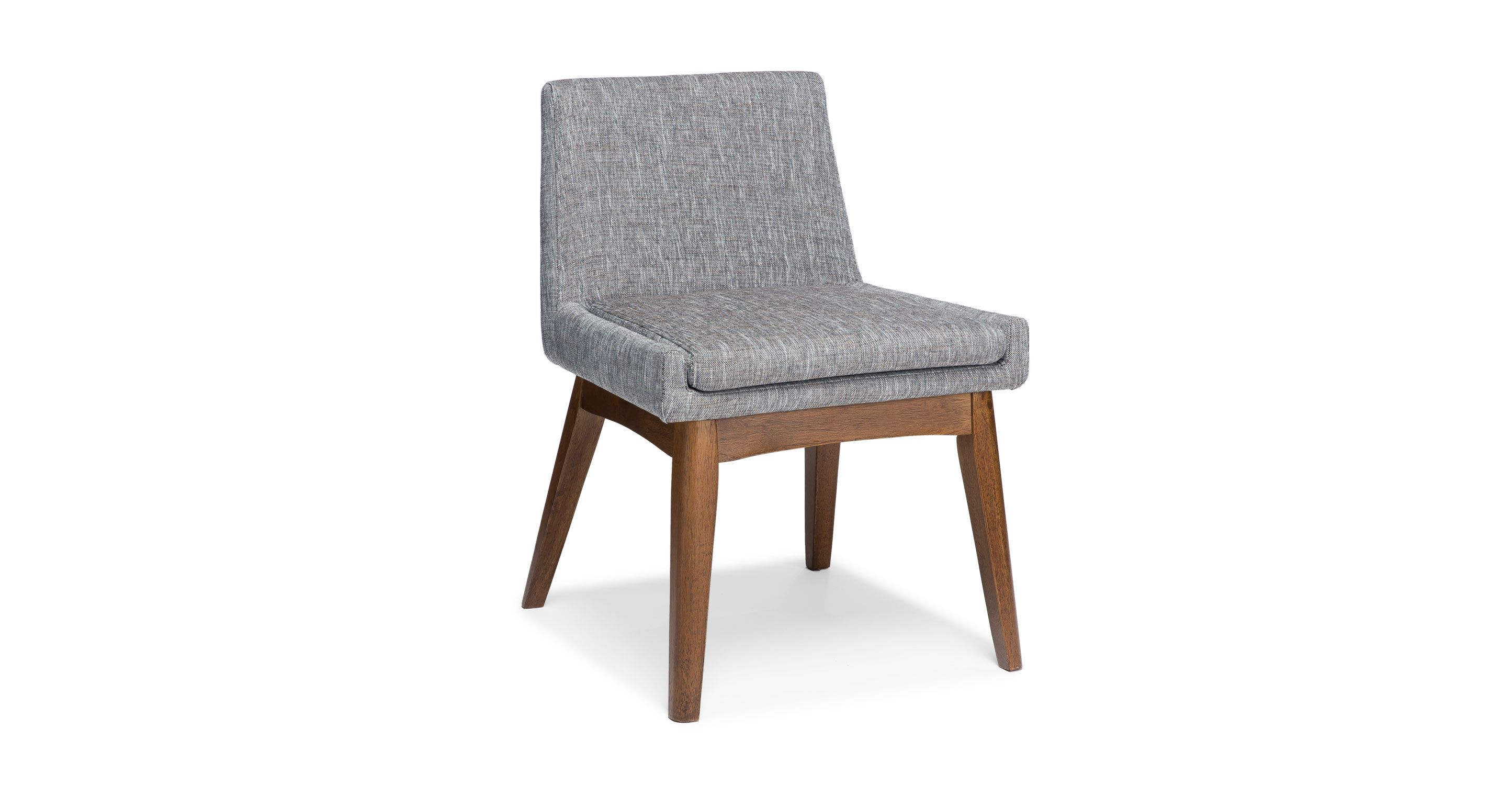 2x Gray Dining Chair in Brown Wood