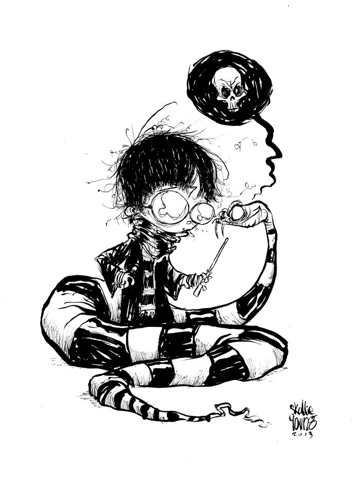 Harry Potter Snake bw by *skottieyoung on deviantART