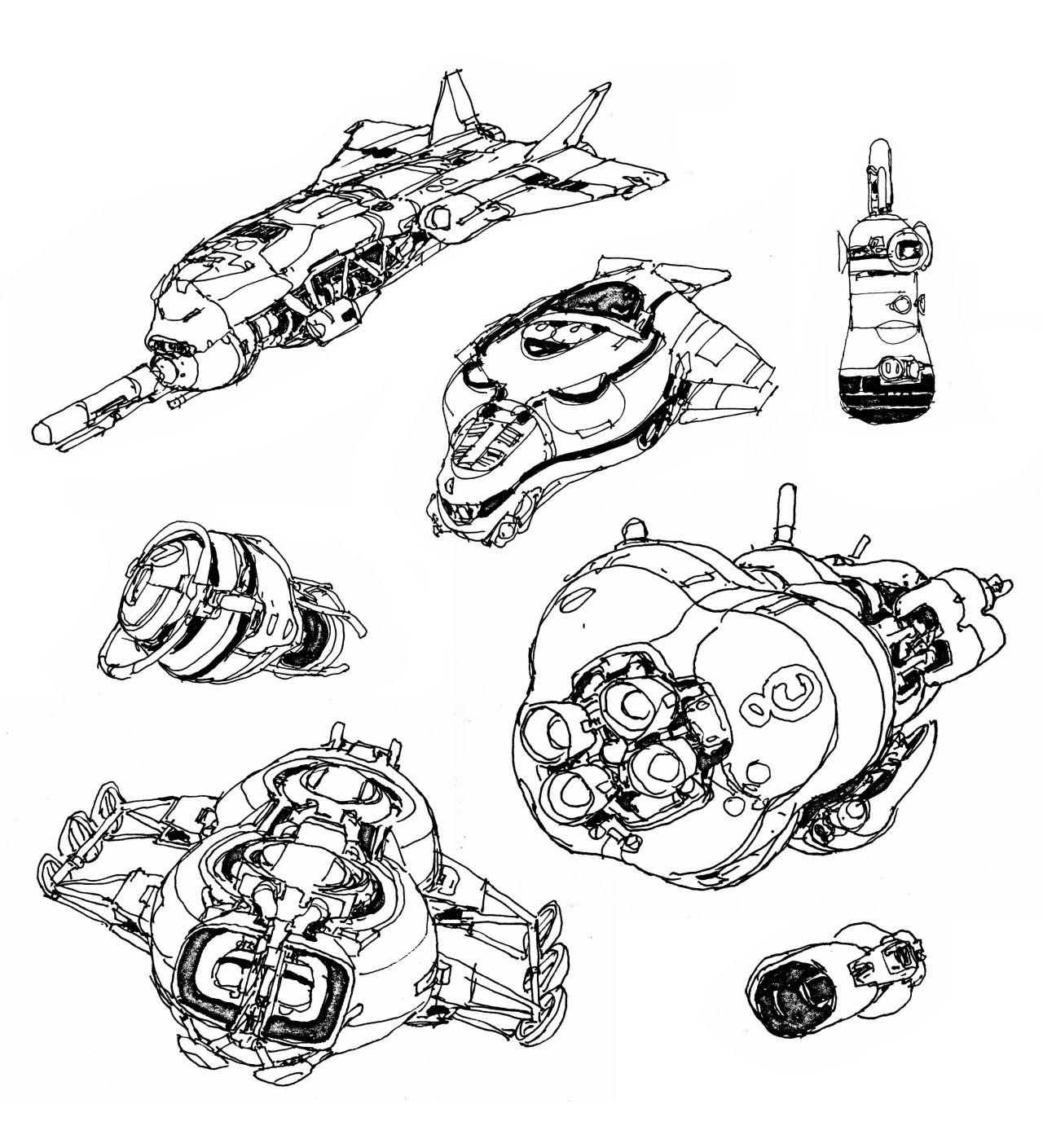 Sci Fi Spaceships