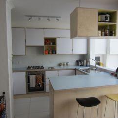 Plywood Kitchen Cabinets Virtual Birch Ply Formica Kandya Mid Century