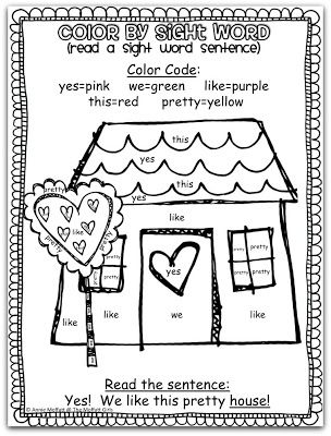 FREE Color by Sight Word Sentences! A FUN way to learn