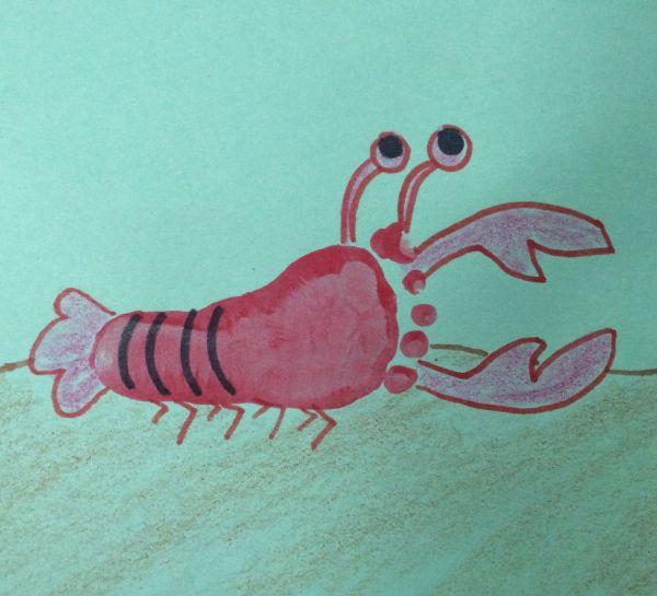 Foot Print Lobster Footprint And Handprint Art