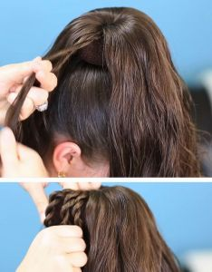 easy diy prom hairstyles for medium hair also frizurak fonott haj rh hu pinterest