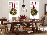 Gorgeous Christmas Tablescape, and love the wreaths ...