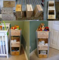Diy Projects: DIY Wine Crate Shelves | Crafts | Pinterest ...