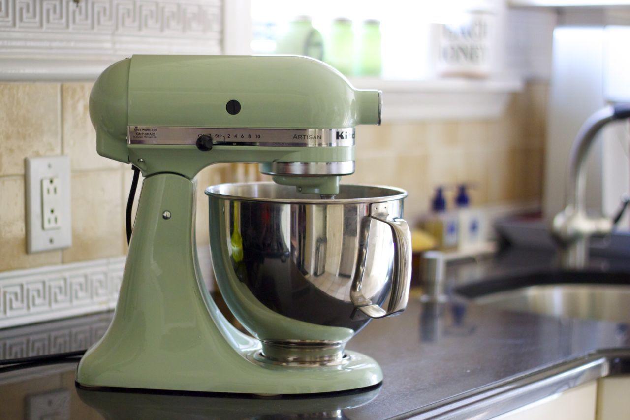 kitchenaid kitchen paula deen table photo pistachio mixer stand
