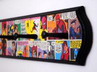 Vintage Spiderman Decoupaged Coat Rack