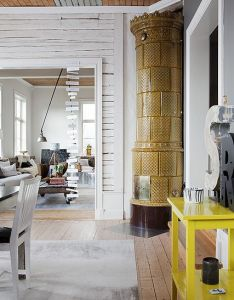 Check out this wonderful place in leksand sweden where the graphic designer ylva skarp lives house was recently published swedish interior also   home by style files via flickr fireplace rh pinterest
