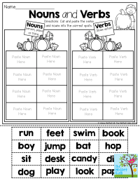 Nouns and Verbs (sorting) TONS of fun printables! | 1st ...