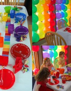 Colorful birthday party also rainbow parties and rh pinterest