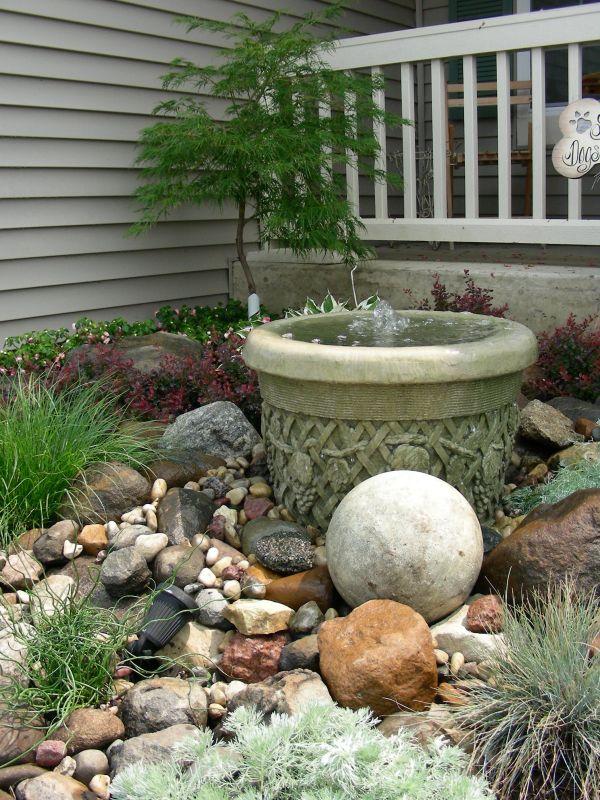 Small Rock Garden and Fountain