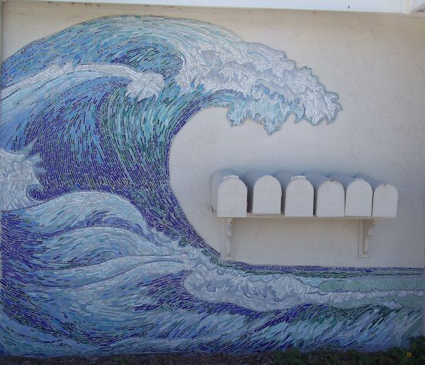 """ Wave"" - Stained Glass And Tiles Located In"