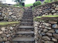 Dry stone retaining wall and steps / on TTL Design ...