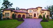 2 Story Mansion with Pool House Plans