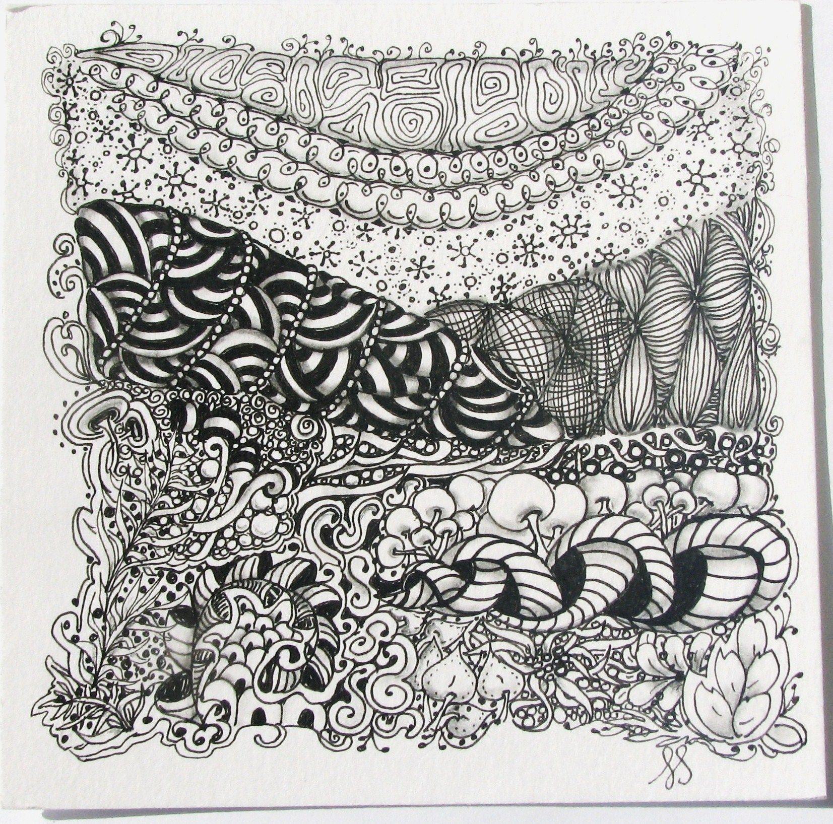 Easy Zentangle Patterns