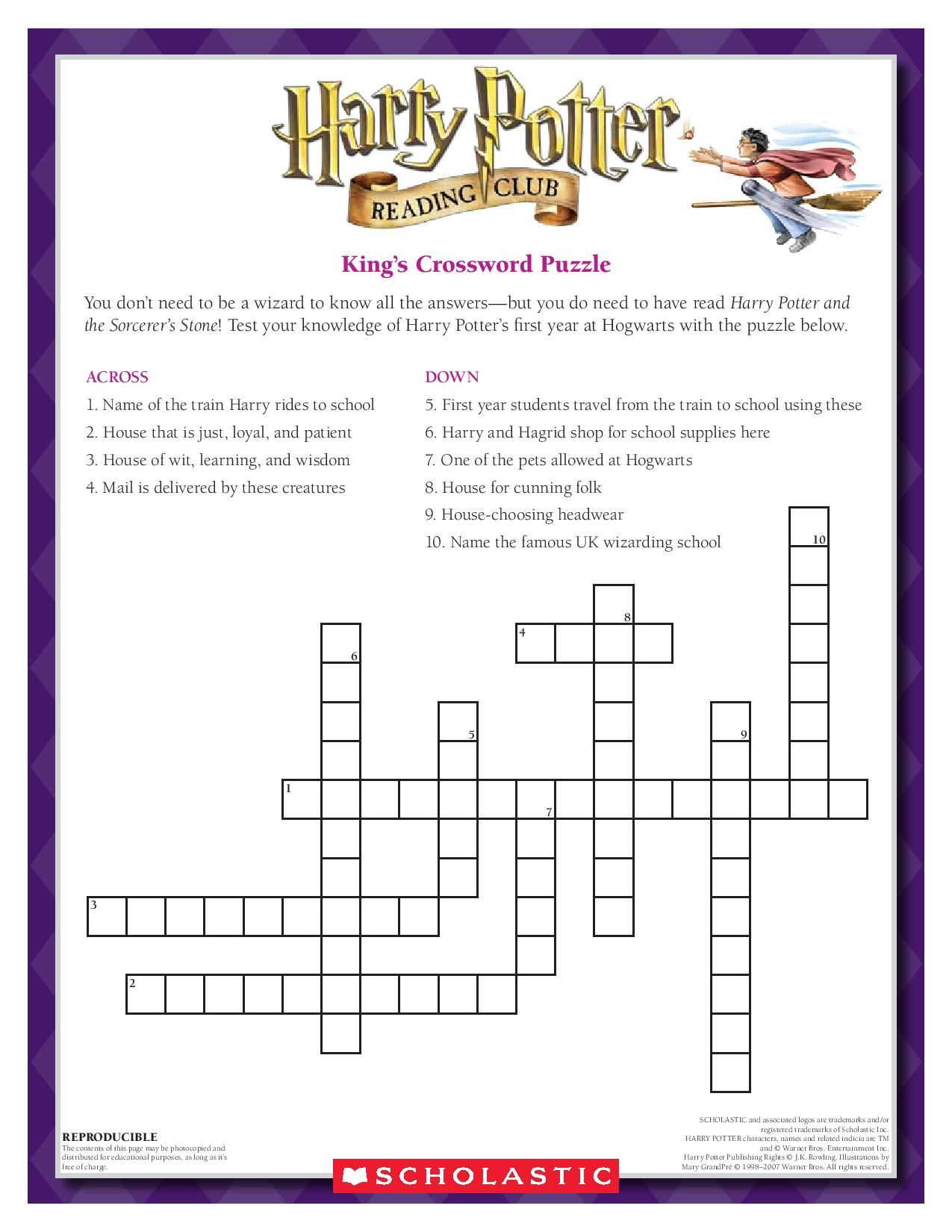 Test Your Knowledge Complete The King S Crossword Puzzle