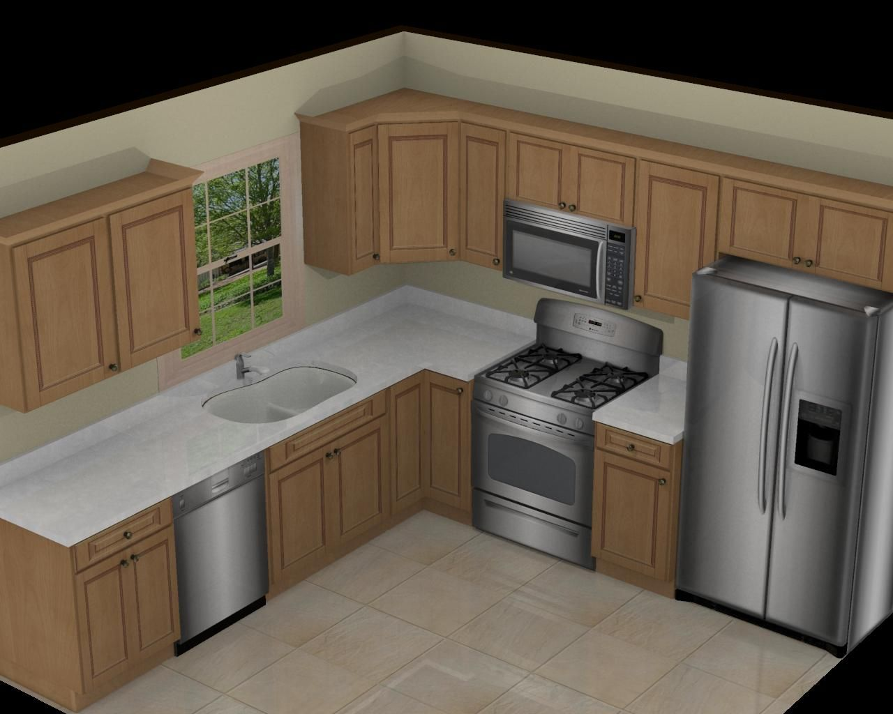 design a kitchen layout commercial island 10x10 on pinterest l shaped