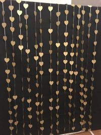 Gold hearts photo booth backdrop. Wedding curtain Ceremony ...