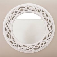 Cream Twisted Round Mirror | Round mirrors, Rounding and ...