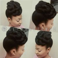 Pin up. Popmpadour. Updos. Natural hair updos. Weddings ...