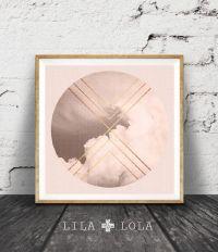 Geometric Art, Cloud Photo, Blush Pink Wall Decor, Pastel ...