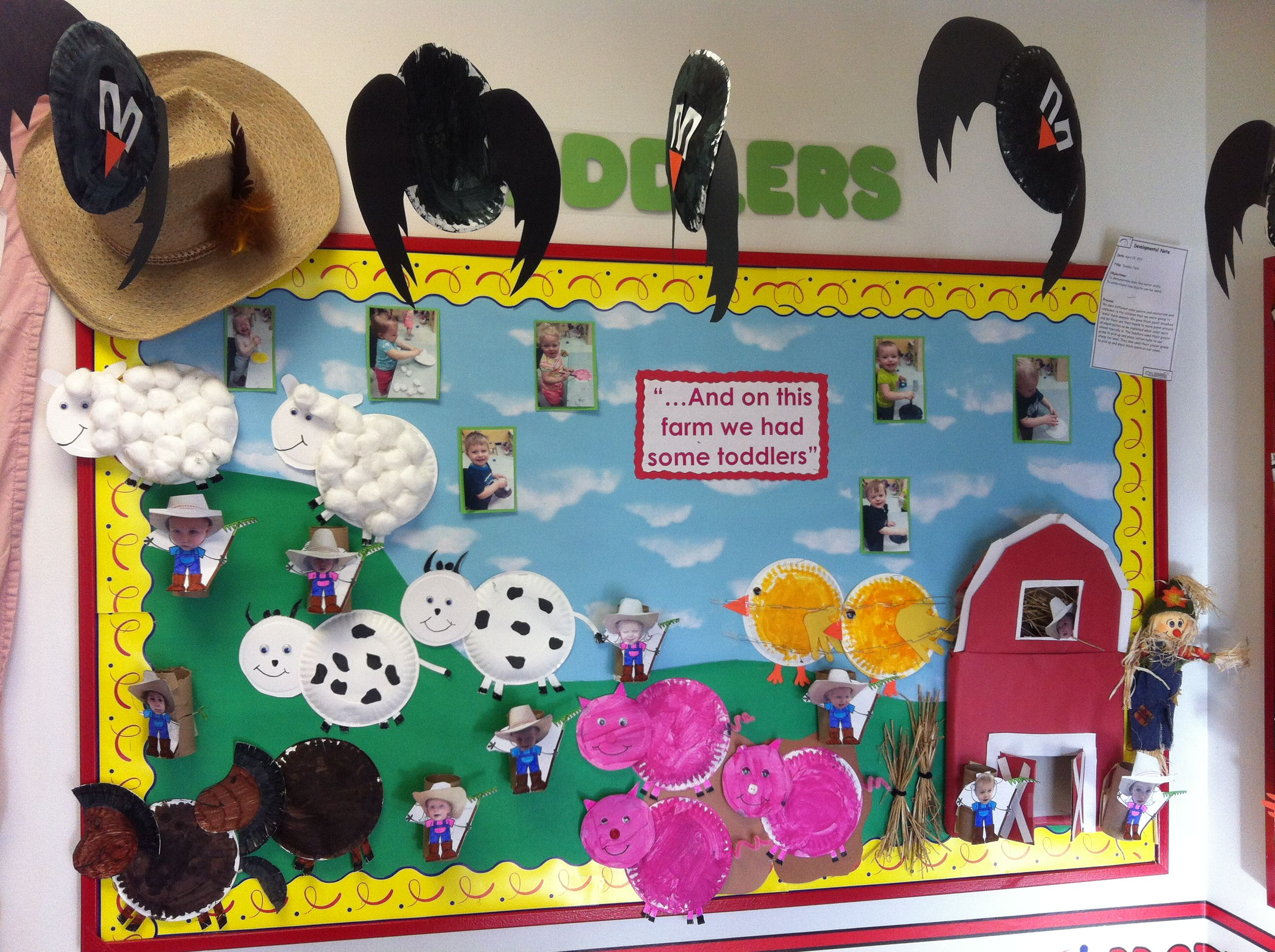 Our Toddler Farm Bulletin Board