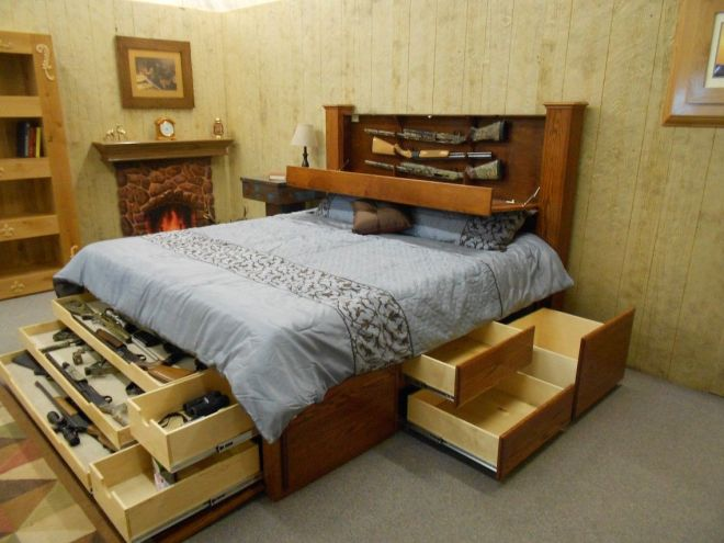 diy california king bed frame with storage
