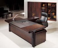 Office & Workspace,Dazzling Dark Brown Wood Executive ...
