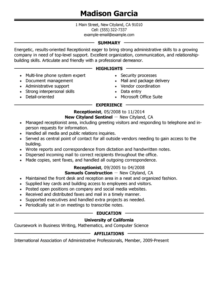 Employee Resume Sample Resume Templates Job Resume Template Free