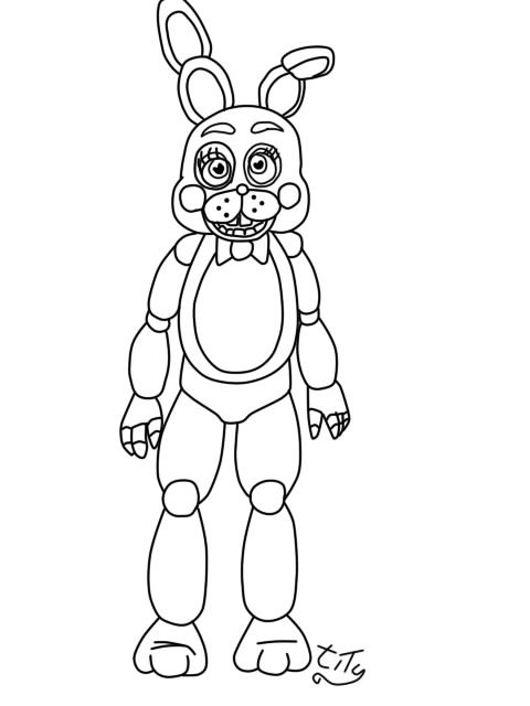 Five Nights At Freddys2 toy bonnie by titygore on