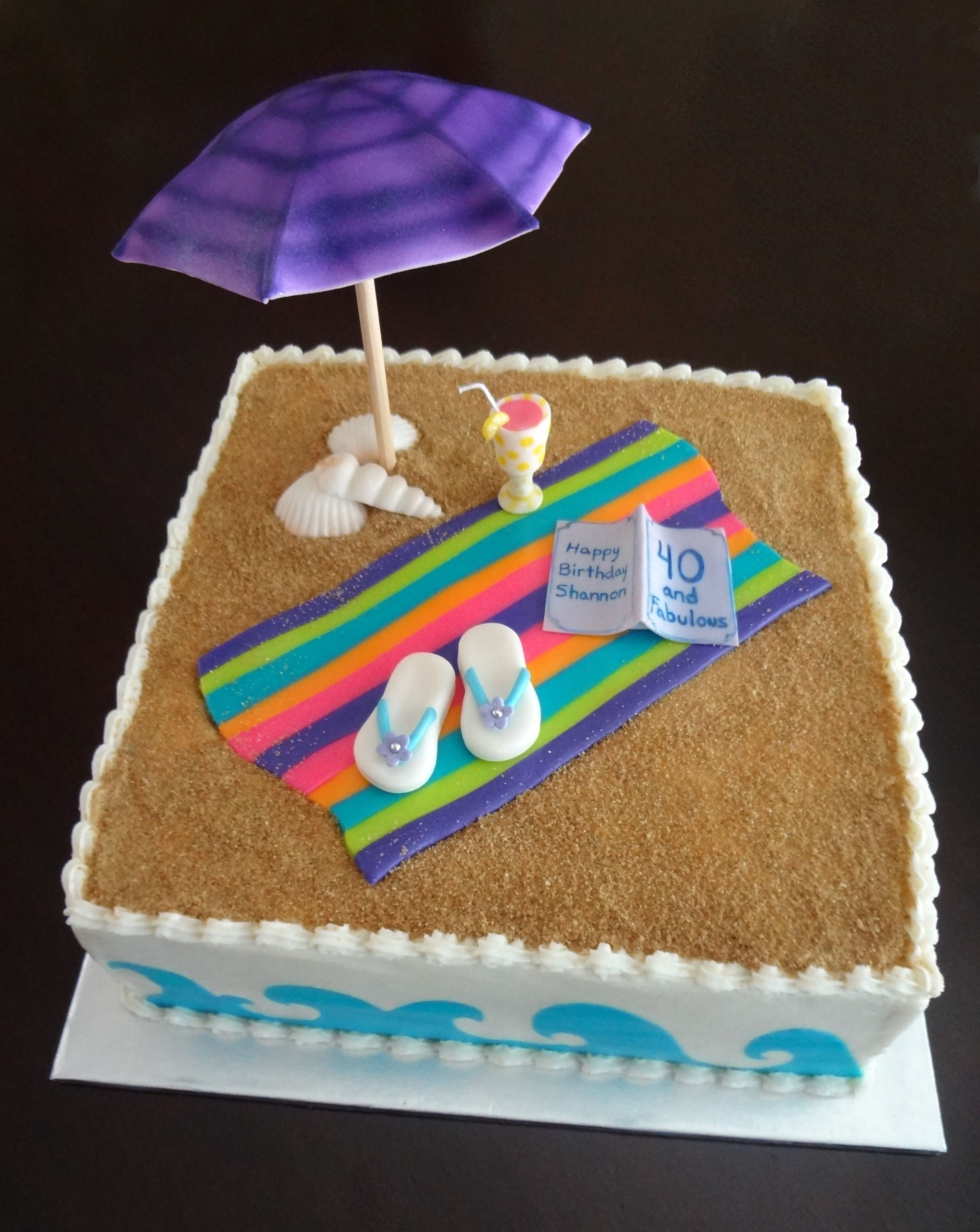 Best 25 Beach Theme Cakes Ideas