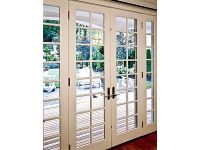Lovely French Door with sidelights and classic grid ...