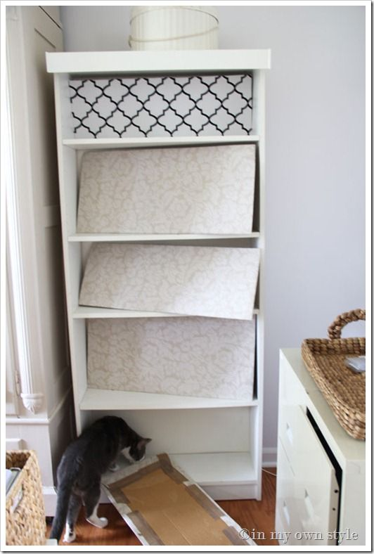 Burlap Backed Ikea Billy Bookcases Can Be In Any Color