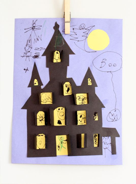 Haunted House Halloween Cut Out Haunted Houses House Template