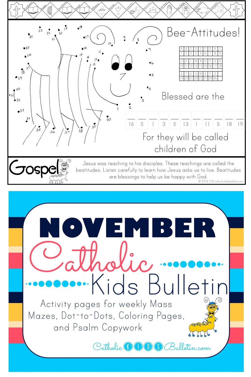 Catholic Kids Bulletin Weekly Mass Prep For Kids Beatitudes