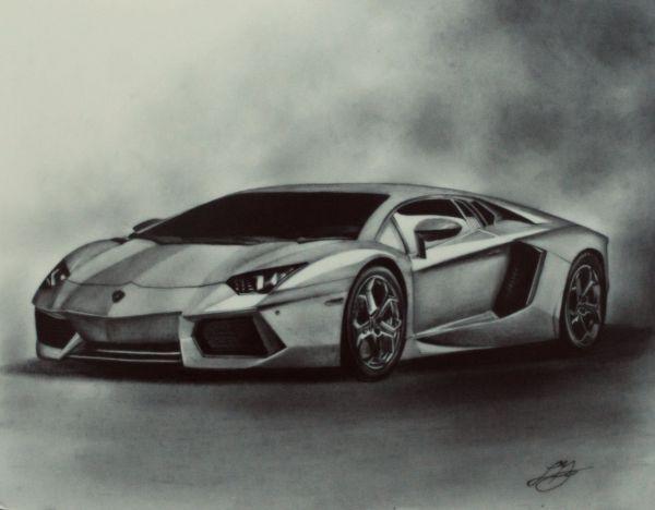 Car Drawing Artist Models Lamborghini