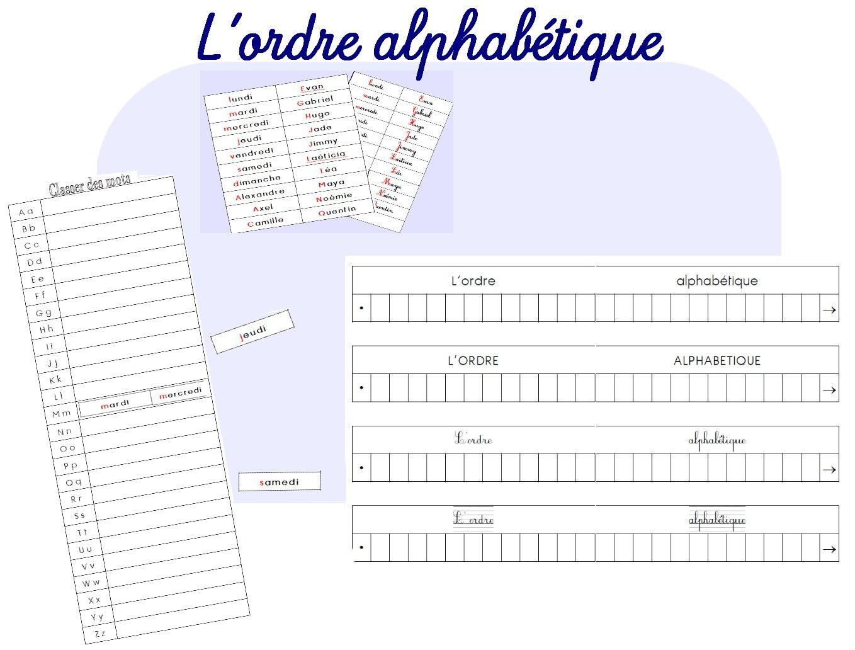 L Ordre Alphabetique