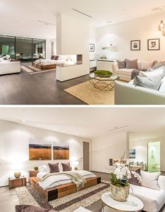Interiors also this new house is lighting up the hollywood hills in los angeles rh pinterest
