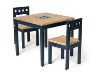 wooden card table | Pintoy Blue Table and Two Chair Set ...