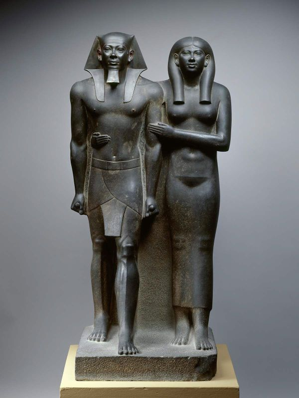 King Menkaura Mycerinus And Queen Museum Of Fine Arts