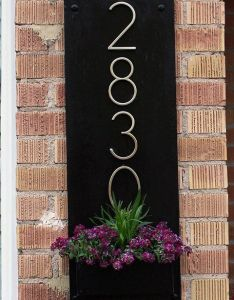 Diy address plaque  planter box once we had everything cut and ready to go also you might want rethink your sign when see what these rh pinterest