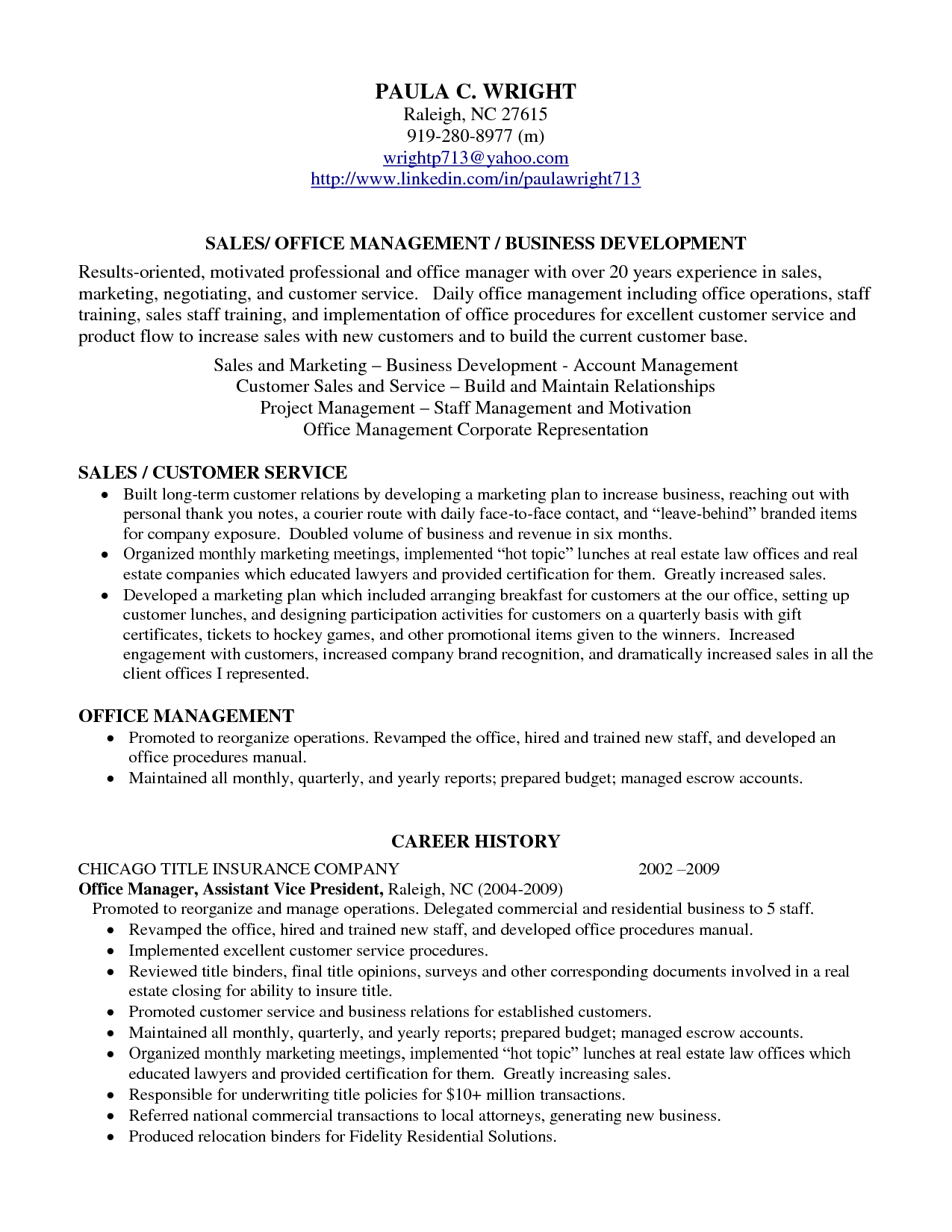 Summary For Marketing Resume Professional Profile Resume Examples Resume Professional