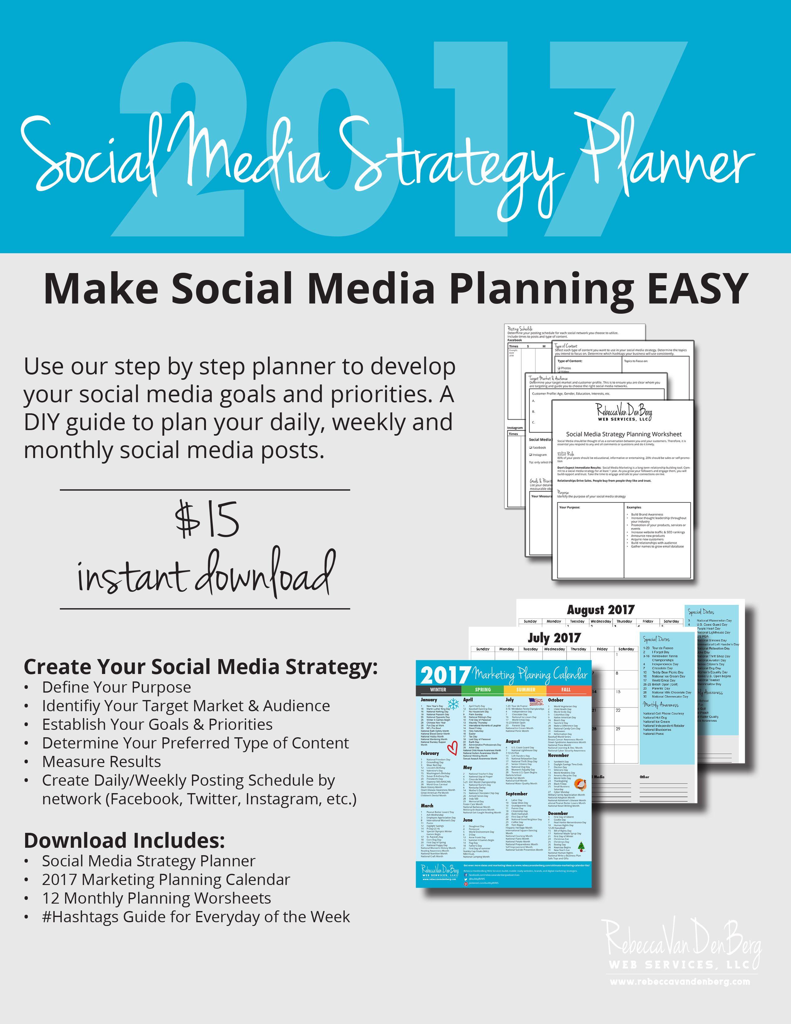 Social Media Strategy Planner