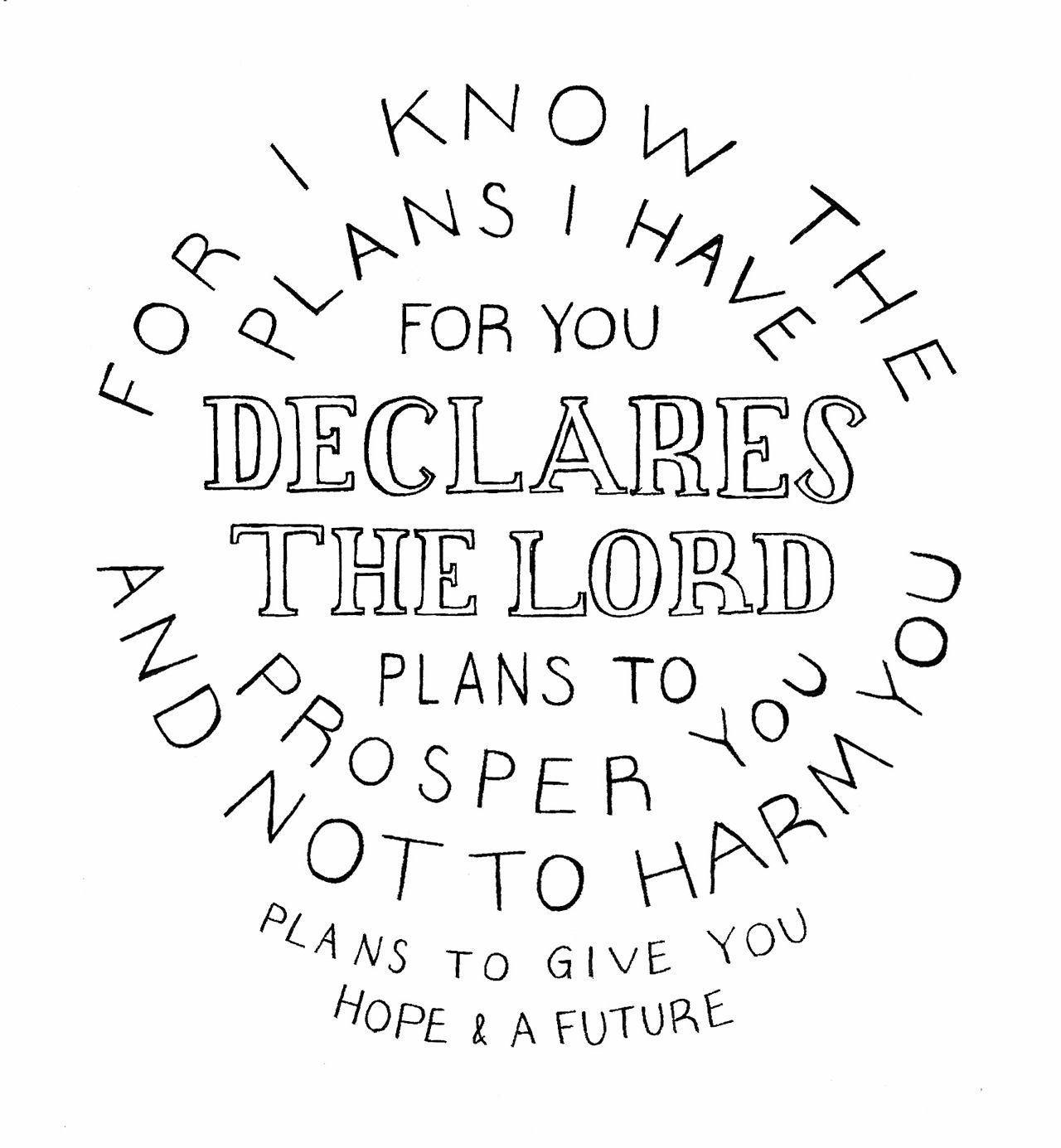 For I know the plans I have for you, declares the Lord, plans for welfare and not for evil, to