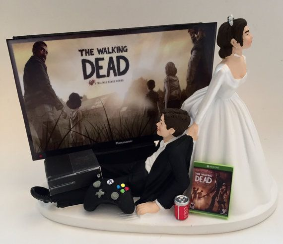 The Walking Dead Game Over Wedding Cake Topper  Ideias