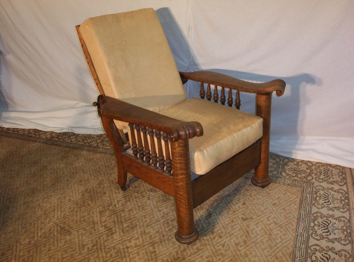 Morris Chairs Tiger Oak Column Morris Chair This Chair Reclinable
