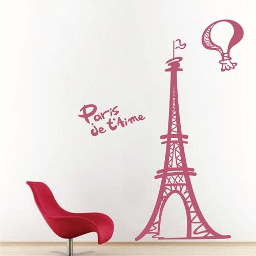 Girls Wallpaper Decals With Eifle Tower Decalques Canad 225 Desenhos Animados Torre Eiffel