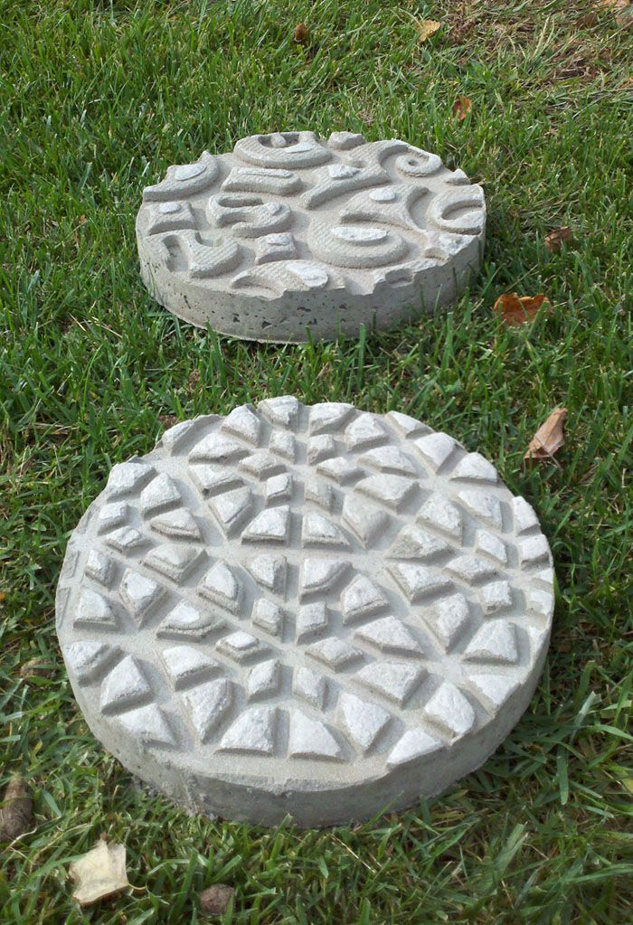 DIY Garden Stepping Stones Gardens Concrete Stepping Stones And