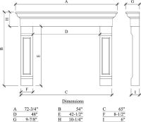 Use this one: fireplace dimensions