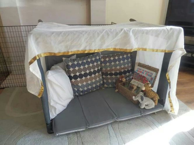 Travel Cot Reading Den Make This For Devin Just Cover Some Pvc